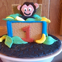 Isaac's Smash Cake I made this little cake for my nephews first birthday. He loves monkeys! There is a small chocolate cake surrounded by a gramcracker box (...