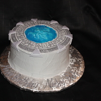 Stargate Atlantis Birthday Cake Marble cake with buttercream.