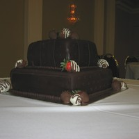 Chocolate Wedding Cake   My very first ever wedding cake, not great but not terrible, the people were happy with it and it's yummy-ness!