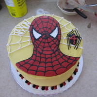 Spiderman   My first experience trying a frozen buttercream transfer.