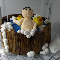 Bath Time all edible, pinping gel water and fondant accentsTodo se come, agua hecha con pinping gel y acentos en fondant. http://cakesdecoraciones....