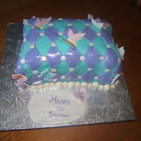 Happy 30Th B-Day I made this cake for my sisters 30th birthday. My first time doing a pillow cake. This cake frustrated me and at one time thought it was...
