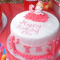 Cowgirl And Trusty Stick Horse This cake was for my daughter's 6th birthday, the cake was a white cake with vanilla custard and whole blackberries covered in MMF and...