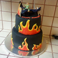 How To Train Your Dragon I did this cake for my son's 8th birthday. He wanted a flame cake and we had a movie theme and watched How to Train Your Dragon. Cake...