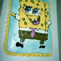Spongebob Squarepants This is a cake I made for a coworker that loves this show!! (Can you guess she's only 18) I freehanded 'bob' and filled...