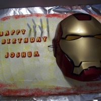 Iron Man Cake   before i knew about fbct...=)