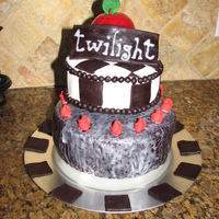 Twilight Cake Made this for my 11 yr old step duaghter's birthday. She loved it! First time using fondant.