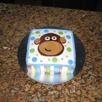 Monkey Cake Chocolate-Chocolate Chip Cake with Chocolate Chip Cream filling, and butter cream. Decorations and Monkey in Fondant. Inspired by a few...