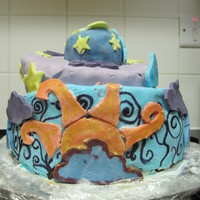 Topsy Turvy Sun, Moon And Stars Cake My first attempt at a topsy turvy cake in advance for Valentines Day. Bottom layer is Chocolate, second is Vanilla and Chocolate Chip. The...