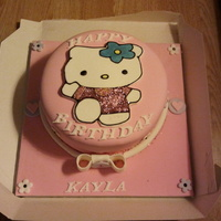 Hello Kitty 1St Birthday Cake Only my second ever fondant cake and very pleased with it. Any comments would be appreciated as I'm a self taught beginner and looking...