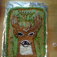 Hunter's Big Buck I did this cake for a friend who has two boys that have a birthday one day apart. They love deer hunting and they loved the cake even...