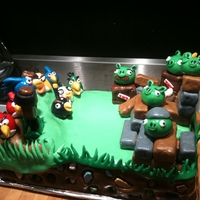Angry Birds Angry Birds Cake from a rank amateur.