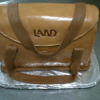 Land Purse Chocolate cake covered with chocolate sugar paste