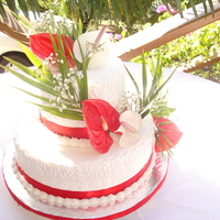 Wedding Cake With Freash Flowers