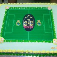 Soccer Cake Soccer playing field.Guinness cake . He love the guinness brew
