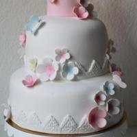 Romantic Cake With A Touch Of Spring
