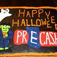 Halloween Cake This was my first sheet cake ... it was made my office.