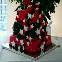 My First Wedding Cake! MMF, MMF stars. Bride loved it!!!