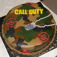 Call Of Duty All buttercream except dog tag (fondant covered with silver shimmer dust).