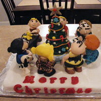 Charlie Brown's Christmas My NIece was in a Charlie Brown play at school, this was for the kids in the play. The characters are fondant and candy