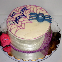 Charlotte's Web Cake A Charlotte's Web cake for Charlotte with a special message written in the web