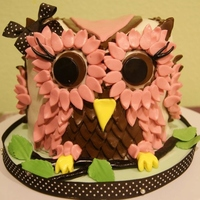 Hoot Cake   Owl cake for a first birthday.