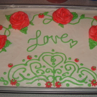 My First Decorated Cake I just took my first class Monday, but decided that I would play with frosting! So I made this cake for fun! I think it turned out rather...
