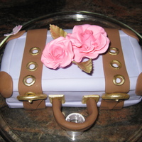 Test Suitcase This was my mini test cake make from left over cake for the Spain - Hasta la vista cake.
