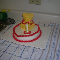 1St Birthday My first ever decorated cake. I used the the Wilton small teddy bear pan.