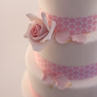4 Tier Cake Gumpaste rose and petals. (including a drop of sugar 'dew'.)