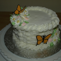 Course 2 Cake Wilton course 2. Basket weave and color flow. Royal icing flowers