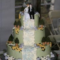 Wedding Cake A bride saw cakesbyanh's nature cake on this site and fell in love with it, but wantedbuttercream icing instead. So here's my...