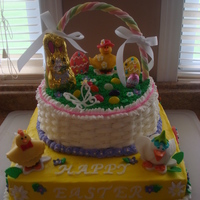 Basket Cake Easter Basket Cake - I got the ideas for the figures from other CC posts ... thank you for the ideas that made my basket cake a huge...