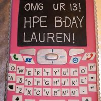 Pink Cell Phone   For a 13 year old who wanted a cell phone, but got the cake instead. Glad I wasn't there!