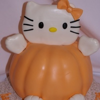 Hello Kitty Pumpkin for a Halloween birthday