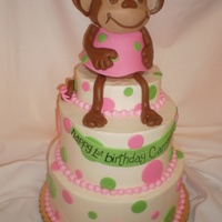 Monkey Cake   monkey made from rk treats
