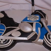 Harley Cake 50th birthday for a man who wanted me to recreate his motorcycle.