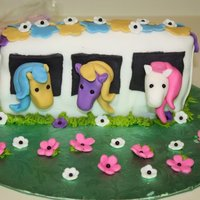 Pony Cake decorations in fondant