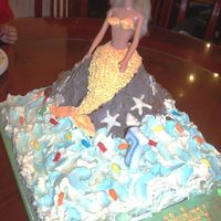Mermaid Cake For my niece's 7th birthday who insisted she wanted a mermaid cake