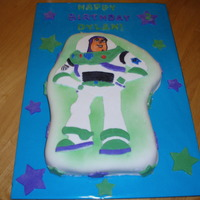 Buzz Lightyear All fondant, made for son's 2nd birthday