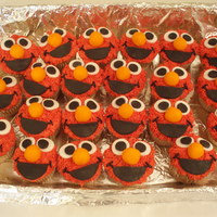 Elmo Cupcakes Made for the son of my friend for his 3rd birthday