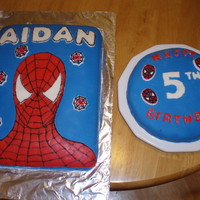 Spiderman Cake Fondant spiderman cake for son's 5th birthday