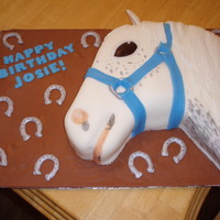 White Horse Cake This was my first attempt at a horse cake. It was for a little girl's birthday and she wanted a specific horse for the cake. Had some...