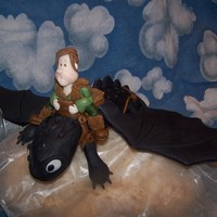 Toothless The Night Fury Sculpted In Modeling Chocolate This is a work in progress of a cake I am making for my nephew. Toothless is made from RKT and modeling chocolate. Hiccup is made from...