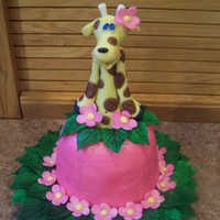 Giraffe Cake Topper Topper I'm making for cake. Sculpted out of modeling chocolate