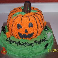 Rachel's Halloween Shower Cake