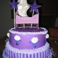 Purple Baby Shower I did this for a friend's baby shower. I decided to use purple instead of pink (for a girl!) since pink and blue are so traditional!...
