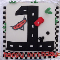 Cars Cake First birthday Cars cake