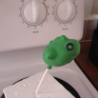 Bass Shaped Cake Pop   S'mores cake pop that is shaped like a bass fish.