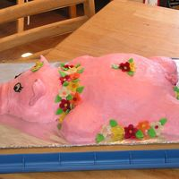 "Lulu The Birthday Luau Hog  ""Lulu"" (as she affectionately came to be called) was created for a 13th Luau themed birthday party. They wanted to have a..."